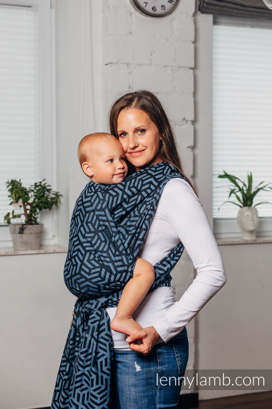 Basic Line Baby Sling - METEORITE, Jacquard Weave, 100% cotton, size XS #babywearing
