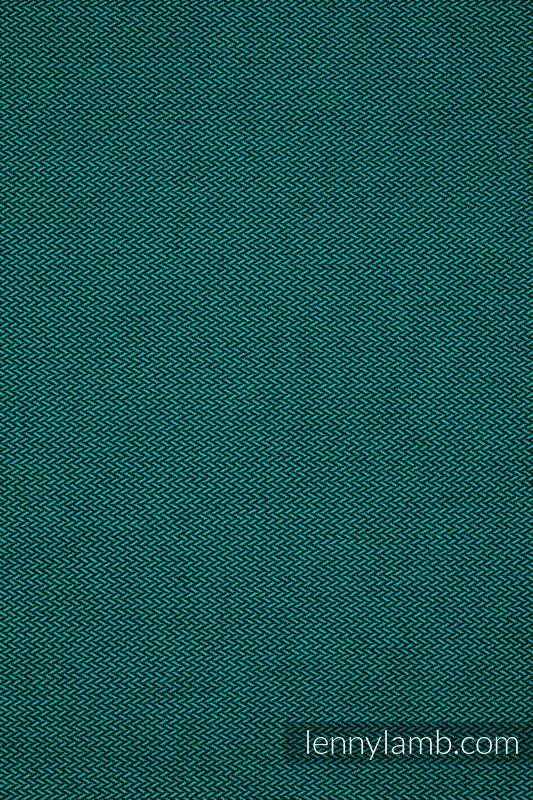 Fular Línea Básica - EMERALD, tejido de espiga, 100% algodón, talla XS #babywearing