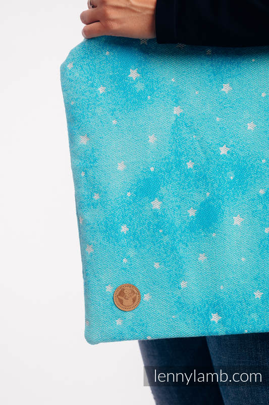 Shopping bag made of wrap fabric (96% cotton, 4% metallised yarn) - TWINKLING STARS - PERSEIDS #babywearing