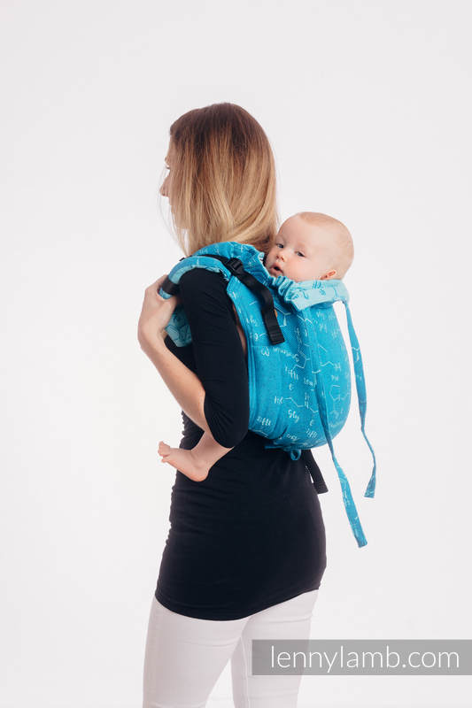 Onbuhimo de Lenny, taille standard, jacquard, (72% Coton, 28% Soie) - LOVE HORMONES - LOVE OCEAN #babywearing