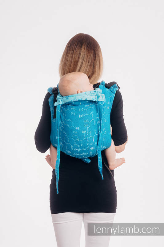 Lenny Buckle Onbuhimo baby carrier, Standard  size, jacquard weave (72% cotton, 28% silk) - LOVE HORMONES - LOVE OCEAN #babywearing