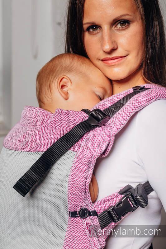 LennyUpGrade Mesh Carrier, Standard Size, herringbone weave (75% cotton, 25% polyester) - BASIC LINE LITTLE HERRINGBONE PURPLE #babywearing