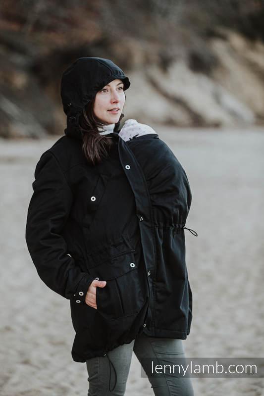 Parka Babywearing Coat - Black & Choice - size L #babywearing