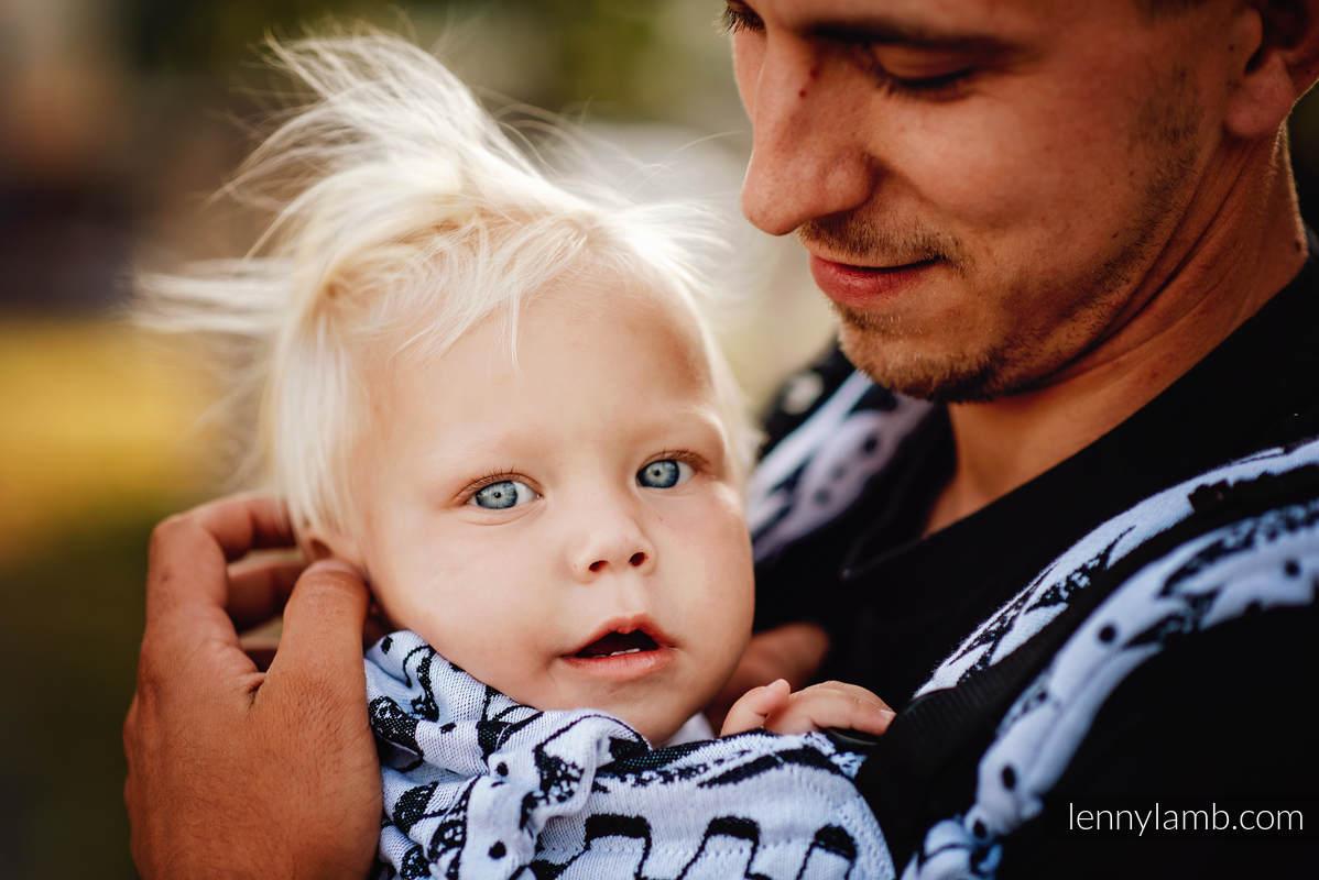 LennyUpGrade Carrier, Standard Size, jacquard weave 100% cotton - NOVA - INKAS - FILIP #babywearing