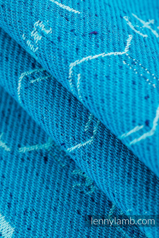 Baby Wrap, Jacquard Weave (72% cotton, 28% silk) - LOVE HORMONES - LOVE OCEAN - size S #babywearing