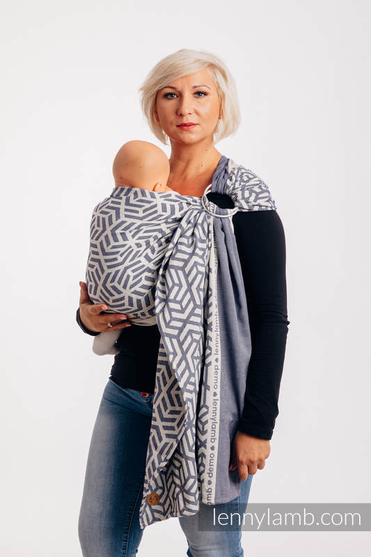 Ringsling, Jacquard Weave (100% cotton) with gathered shoulder - FOR PROFESSIONAL USE EDITION - CHERISH 1.0 - standard 1.8m #babywearing