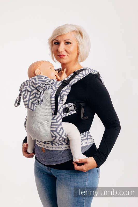 LennyGo Ergonomic Mesh Carrier, Toddler Size, jacquard weave 86% cotton, 14% polyester - FOR PROFESSIONAL USE EDITION - CHERISH 1.0 #babywearing