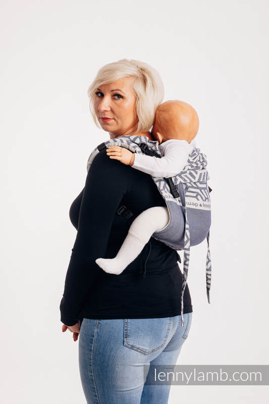 Lenny Buckle Onbuhimo baby carrier, Toddler size, jacquard weave (100% cotton) - FOR PROFESSIONAL USE EDITION - CHERISH 1.0 #babywearing