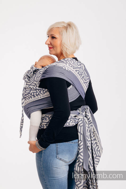 WRAP-TAI carrier Mini with hood/ jacquard twill / 100% cotton / FOR PROFESSIONAL USE EDITION - CHERISH 1.0 #babywearing