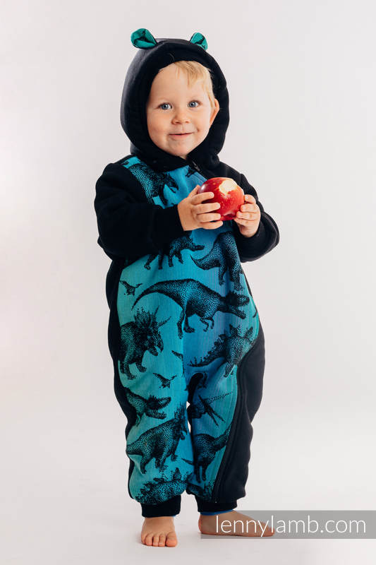 Grenouillère ours - taille 116 - Noir avec Jurassic Park #babywearing