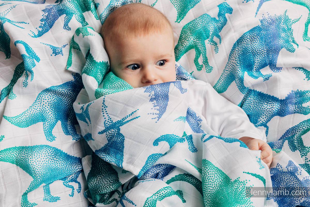 Muselina - JURASSIC PARK WHITE (grado B) #babywearing