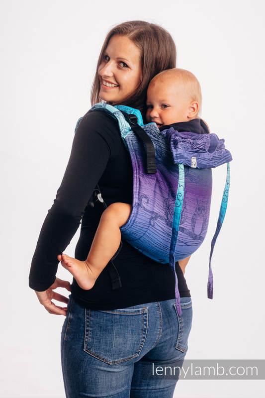 Onbuhimo SAD LennyLamb, talla estándar, jacquard (100% algodón) - BUBO OWLS - DUSK #babywearing