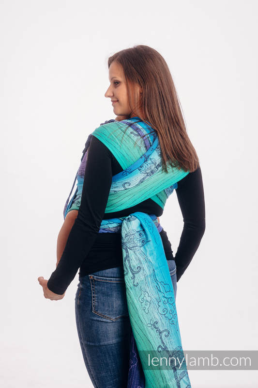 WRAP-TAI carrier Mini with hood/ jacquard twill / 100% cotton / BUBO OWLS - DUSK #babywearing