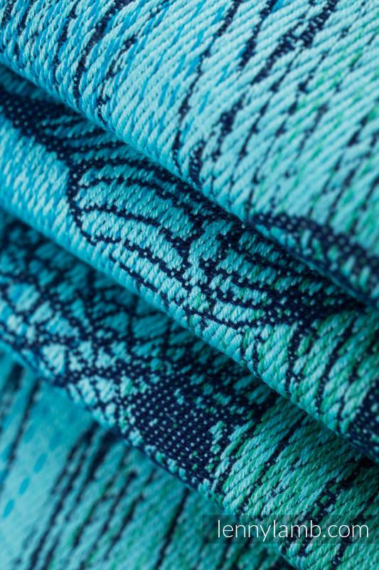 Baby Wrap, Jacquard Weave (100% cotton) - BUBO OWLS - DUSK - size L #babywearing