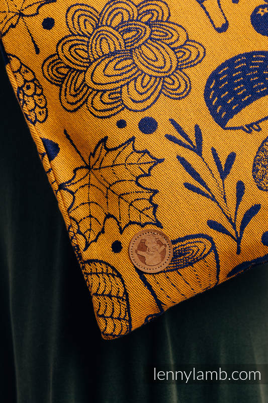 Shopping bag made of wrap fabric (100% cotton) - UNDER THE LEAVES - GOLDEN AUTUMN #babywearing