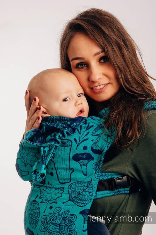 Nosidełko Ergonomiczne LennyGo z tkaniny żakardowej 100% bawełna , rozmiar Toddler - POD LIŚCIEM  #babywearing