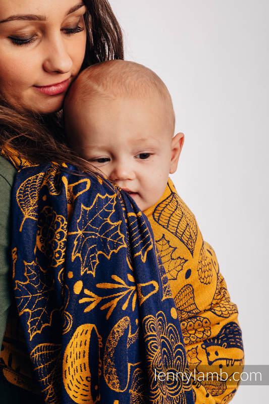 Żakardowa chusta do noszenia dzieci, 100% bawełna - POD LIŚCIEM - ZŁOTA JESIEŃ - rozmiar M (drugi gatunek) #babywearing