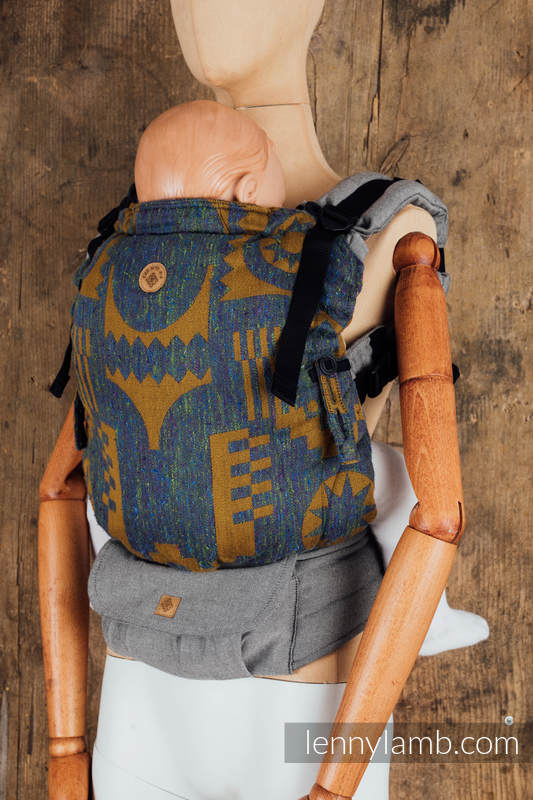 LennyUpGrade Carrier - CHOICE - EXPERIMENT no.11 - Standard Size, jacquard weave,  (44%tussah silk, 31% combed cotton, 21% merino wool, 4% cashmere) #babywearing