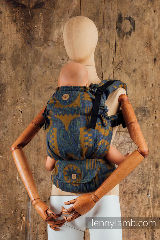 LennyUpGrade Carrier, Standard Size, jacquard weave, (44%tussah silk, 31% combed cotton, 21% merino wool, 4% cashmere) - EXPERIMENT 11 #babywearing
