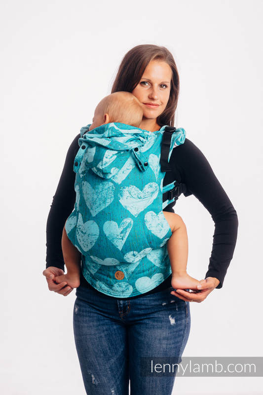 LennyGo Ergonomic Carrier, Toddler Size, jacquard weave (80% cotton, 20% silk) - LOVKA - FLOW #babywearing