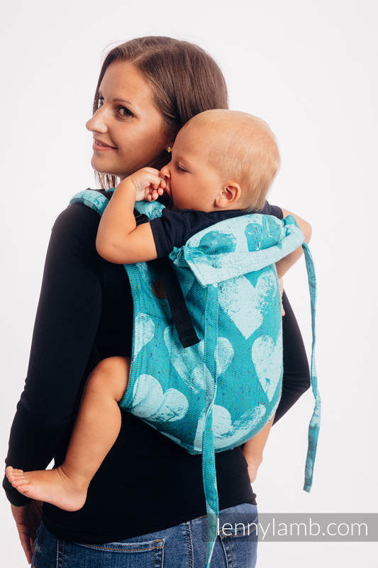 Lenny Buckle Onbuhimo baby carrier, Toddler size, jacquard weave (80% cotton, 20% silk) - LOVKA - FLOW #babywearing