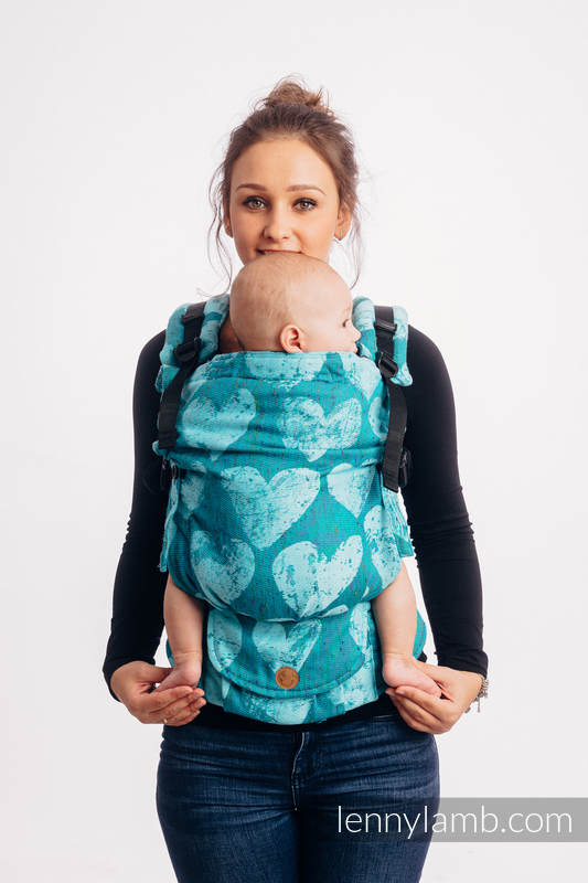 LennyUpGrade Carrier, Standard Size, jacquard weave (80% cotton, 20% silk) - LOVKA - FLOW #babywearing