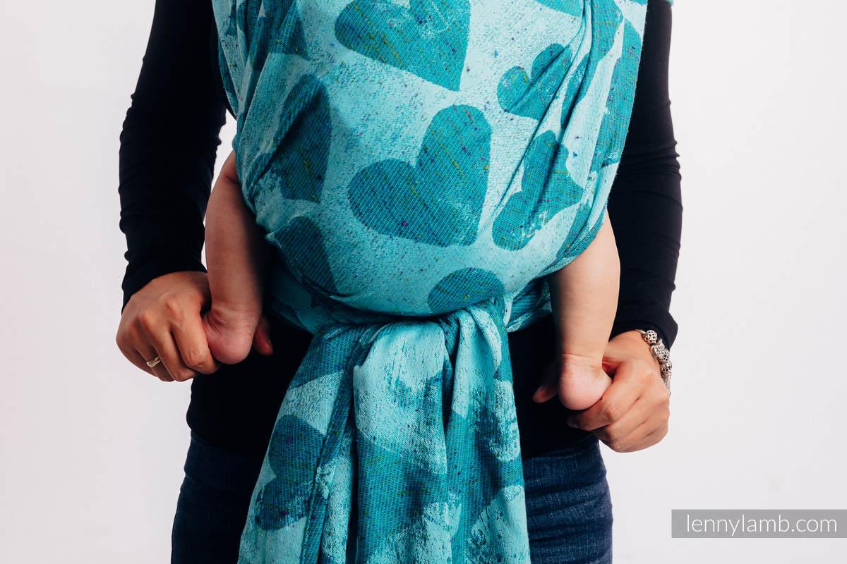 Żakardowa chusta do noszenia dzieci, (80% bawełna, 20% jedwab) - LOVKA - FLOW - rozmiar M #babywearing