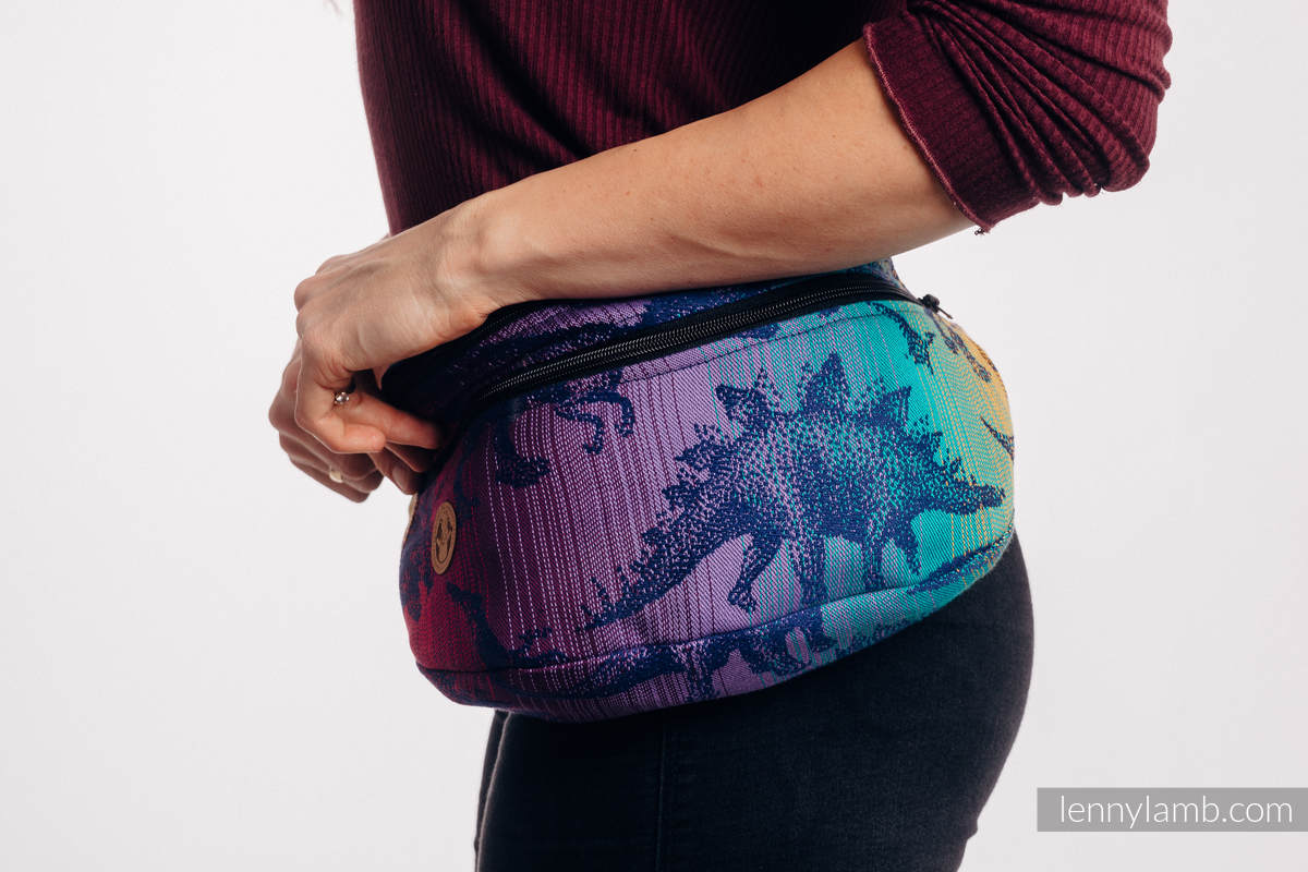 Waist Bag made of woven fabric, size large (100% cotton) - JURASSIC PARK - NEW ERA #babywearing