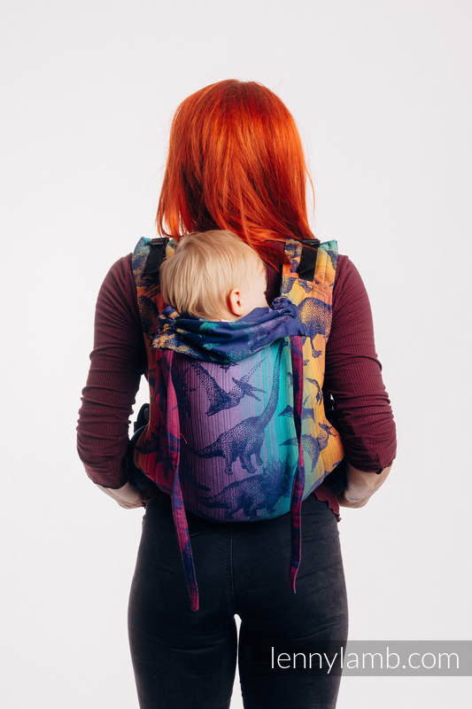 Lenny Buckle Onbuhimo baby carrier, toddler size, jacquard weave (100% cotton) - JURASSIC PARK - NEW ERA #babywearing