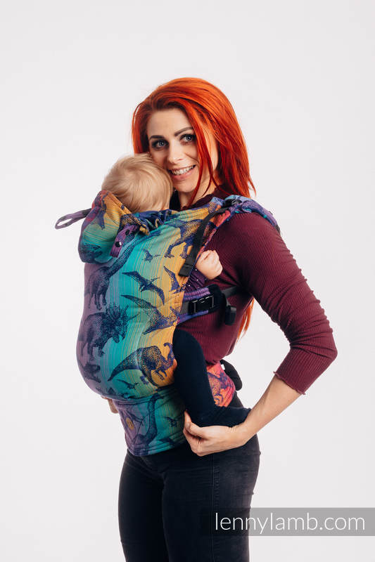 LennyGo Ergonomic Carrier, Toddler Size, jacquard weave 100% cotton - JURASSIC PARK - NEW ERA #babywearing