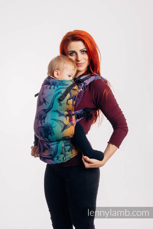 LennyUpGrade Carrier, Standard Size, jacquard weave 100% cotton - JURASSIC PARK - NEW ERA #babywearing