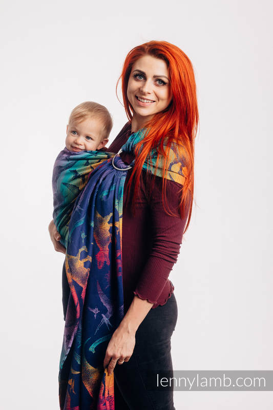 Ringsling, Jacquard Weave (100% cotton) - with gathered shoulder - JURASSIC PARK - NEW ERA - long 2.1m #babywearing