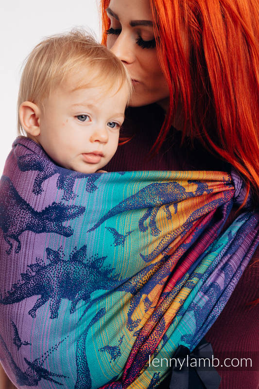 Baby Wrap, Jacquard Weave (100% cotton) - JURASSIC PARK - NEW ERA - size XL #babywearing