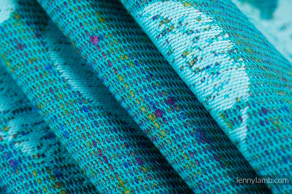 Żakardowa chusta do noszenia dzieci, (80% bawełna, 20% jedwab) - LOVKA - FLOW - rozmiar XS #babywearing