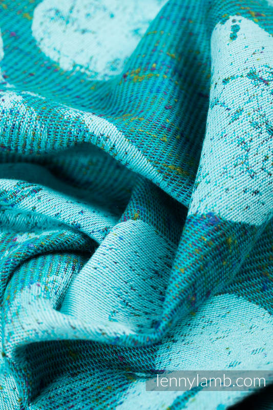 Baby Wrap, Jacquard Weave (80% cotton, 20% silk) - LOVKA - FLOW - size S #babywearing