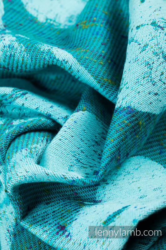 Baby Wrap, Jacquard Weave (80% cotton, 20% silk) - LOVKA - FLOW - size XL #babywearing