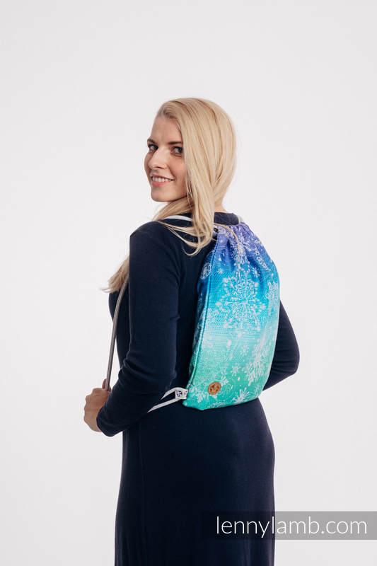 Plecak/worek - 100% bawełna - KRÓLOWA ŚNIEGU - KRYSZTAŁ - uniwersalny rozmiar 32cmx43cm #babywearing