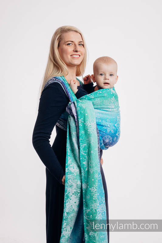 Baby Wrap, Jacquard Weave (100% cotton) - SNOW QUEEN - CRYSTAL - size L #babywearing