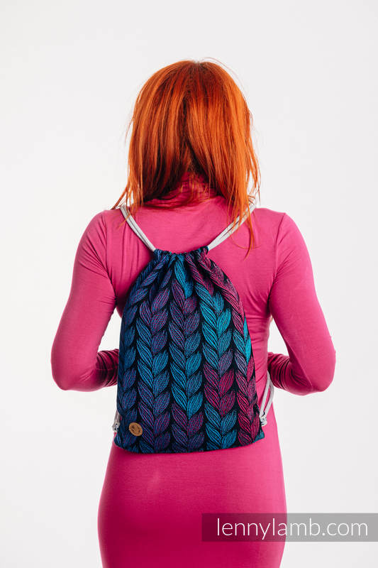 Sackpack made of wrap fabric (100% cotton) - TANGLED IN LOVE - standard size 32cmx43cm #babywearing