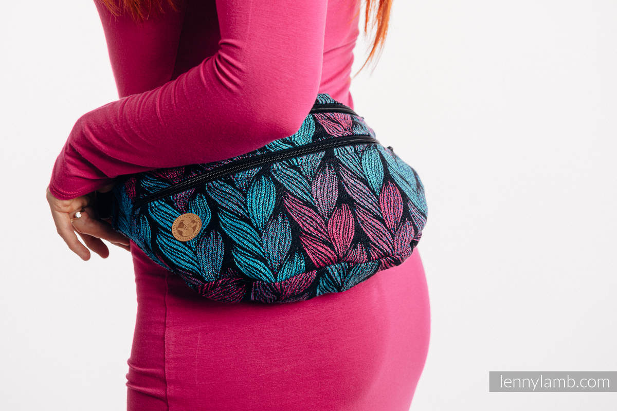 Waist Bag made of woven fabric, size large (100% cotton) - TANGLED IN LOVE #babywearing