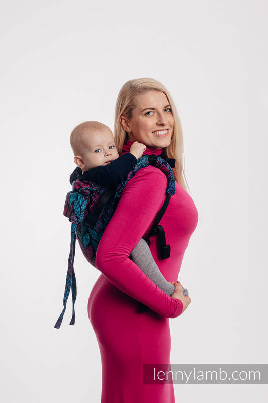 Lenny Buckle Onbuhimo baby carrier, standard size, jacquard weave (100% cotton) - TANGLED IN LOVE #babywearing