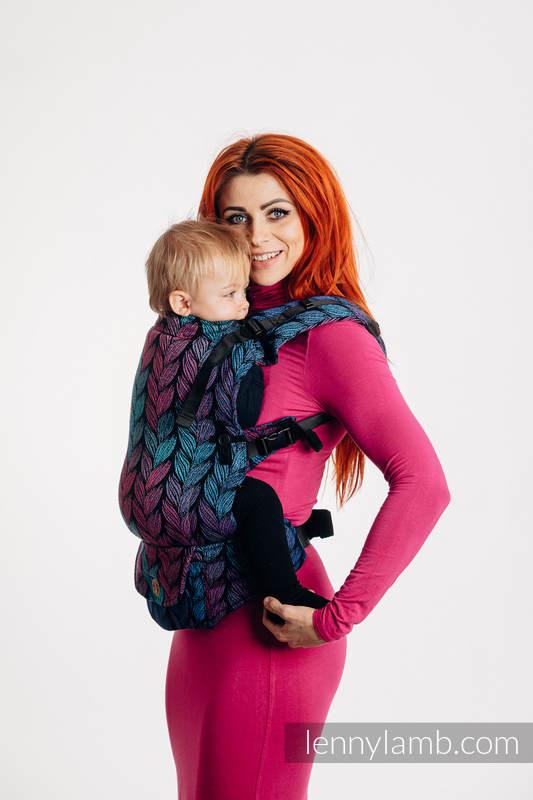 Mochila LennyUpGrade, talla estándar, tejido jaqurad 100% algodón - TANGLED IN LOVE #babywearing