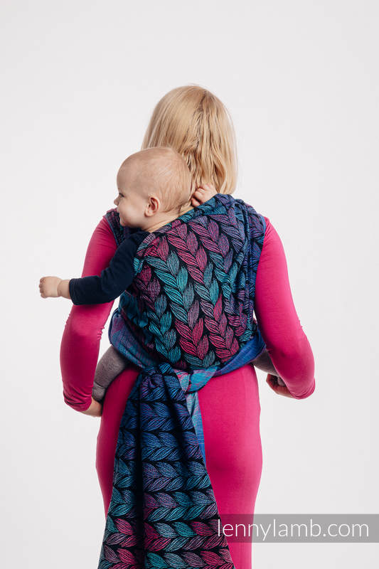 Baby Wrap, Jacquard Weave (100% cotton) - TANGLED IN LOVE - size XS #babywearing