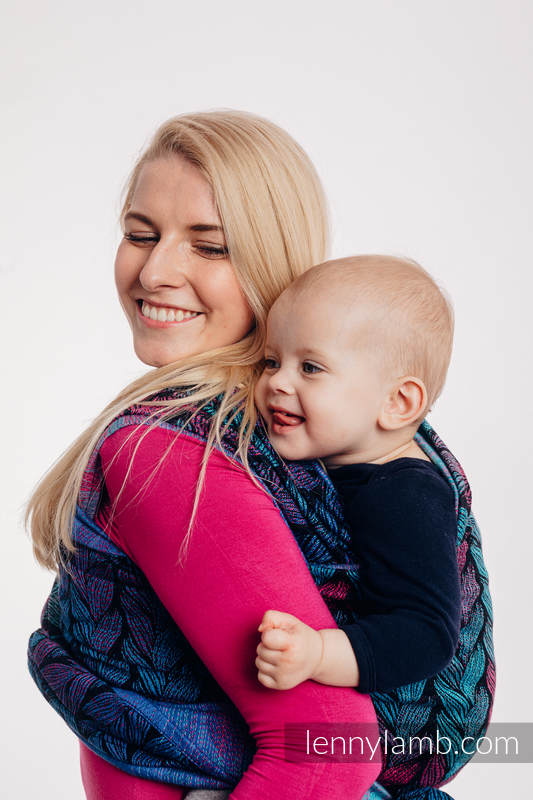 Baby Wrap, Jacquard Weave (100% cotton) - TANGLED IN LOVE - size XL #babywearing