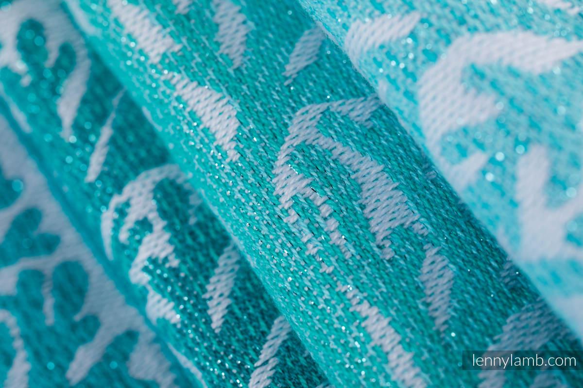 Żakardowa chusta do noszenia dzieci, 96% bawełna, 4% przędza metalizowana - LEŚNA KRAINA - SZRON - rozmiar XS #babywearing