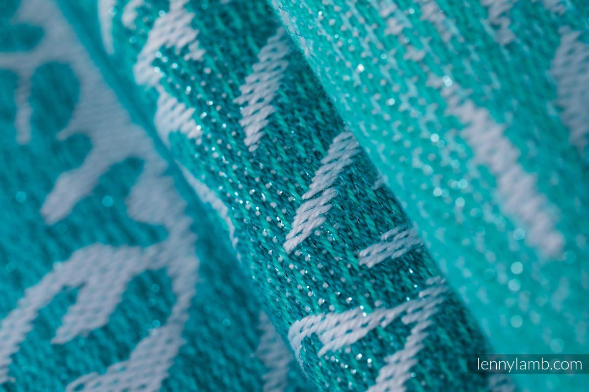 Żakardowa chusta do noszenia dzieci, 96% bawełna, 4% przędza metalizowana - LEŚNA KRAINA - SZRON - rozmiar S #babywearing
