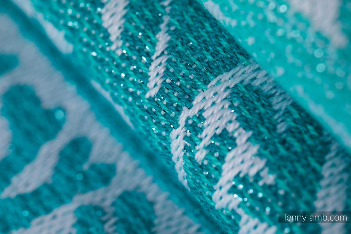 Żakardowa chusta do noszenia dzieci, 96% bawełna, 4% przędza metalizowana - LEŚNA KRAINA - SZRON - rozmiar XL #babywearing