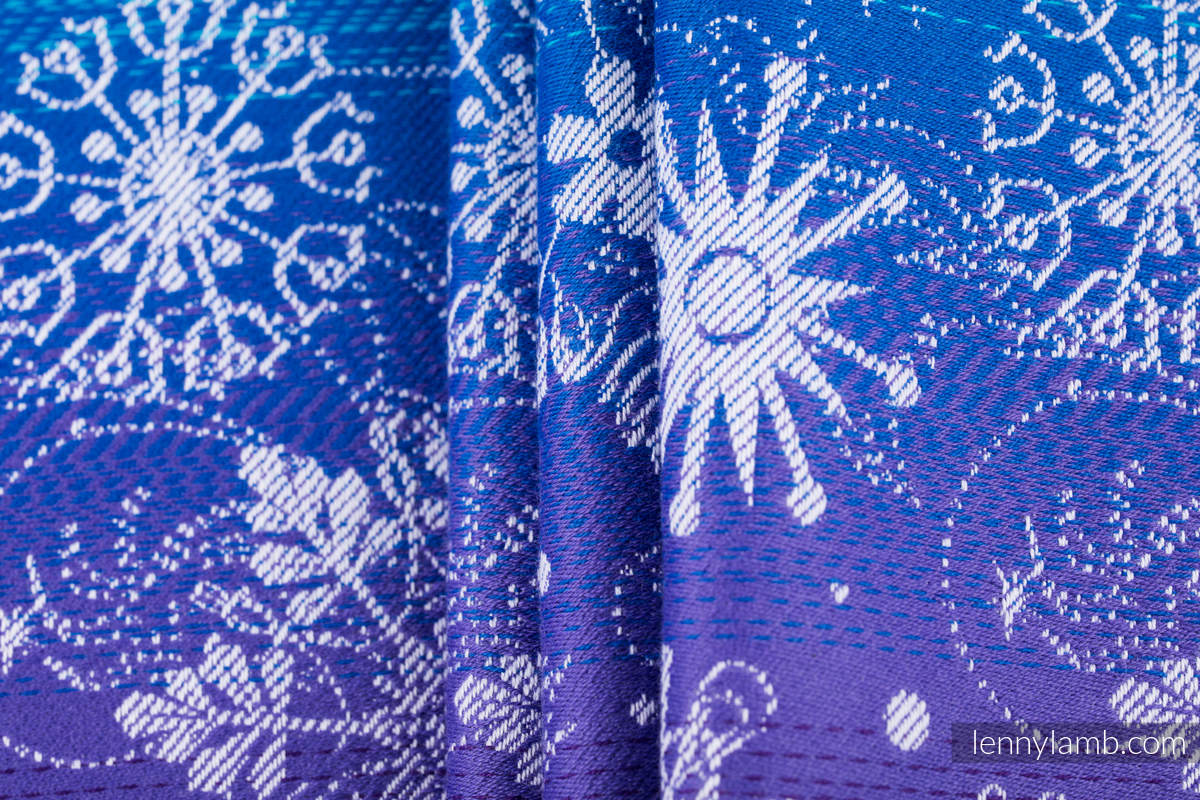 Baby Wrap, Jacquard Weave (100% cotton) - SNOW QUEEN - CRYSTAL - size M #babywearing