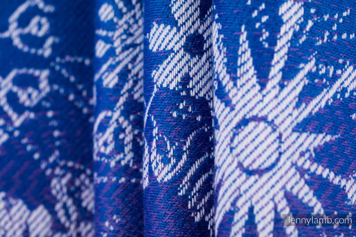 Fular, tejido jacquard (100% algodón) - SNOW QUEEN - CRYSTAL - talla S #babywearing