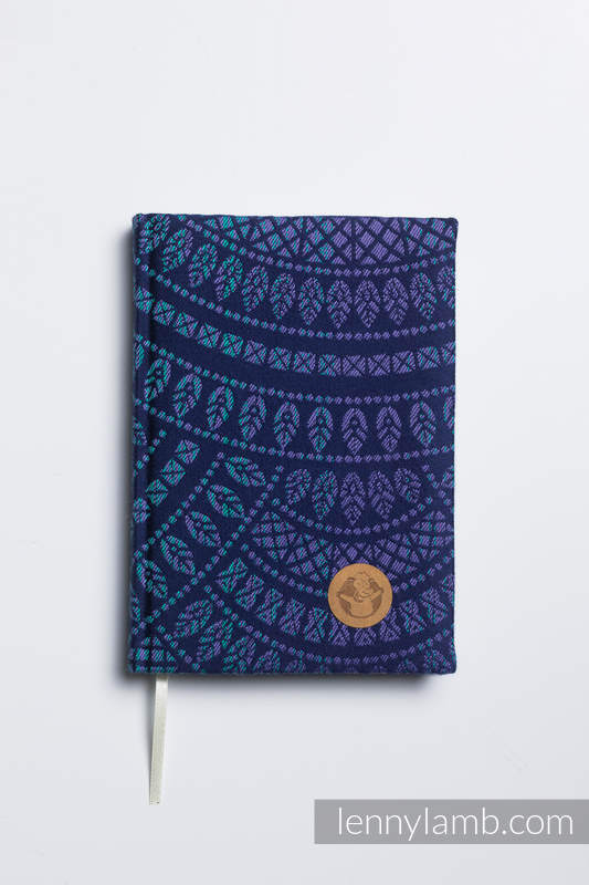Calendar 2020 with jacquard fabric hard cover - size A5 - PEACOCK'S TAIL - PROVANCE #babywearing